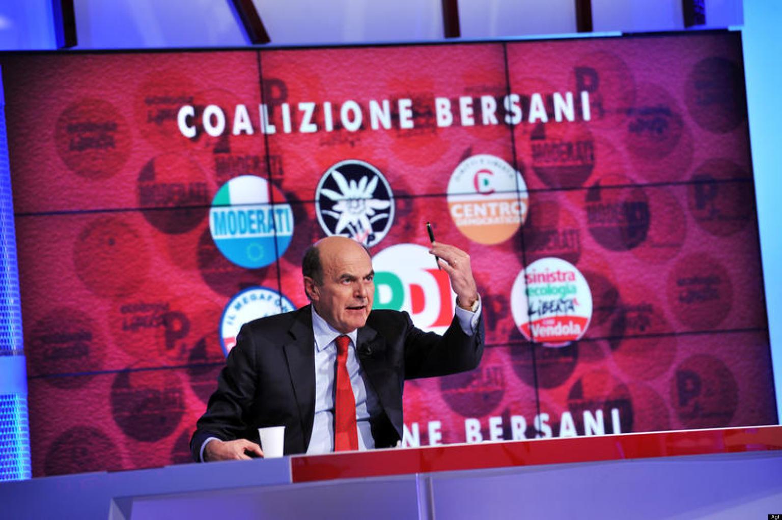 22/02/2013 RAI Saxa rubra, chiusura della campagna elettorale, nella foto la conferenza stampa di Pier Luigi Bersani, segratario PD